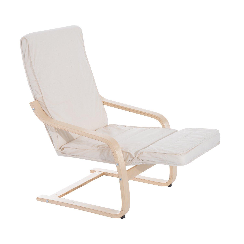 Sillon-de-Relax-Silla-de-Relax-Madera-de-Abedul-Reposapiernas-5-Niveles-2-Color miniatura 4