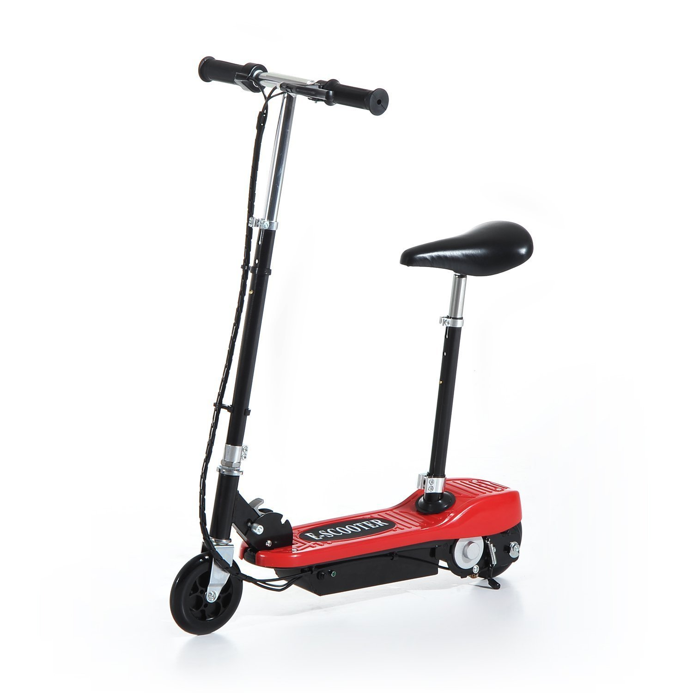 Patinete-Electrico-Plegable-E-Scooter-Bateria-120W-Manillar-Asiento-Ajustable miniatura 26