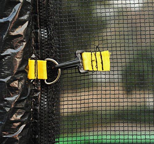 Red-de-Seguridad-Pared-Protectora-Cama-Elastica-Trampolin-Redonda-6-8-10-Barras miniatura 17
