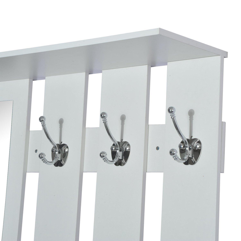 61rjominayl. sl1500  - Conjunto Muebles de Entrada Recibidor Pasillo 3 Piezas Perchero Espejo Zapatero