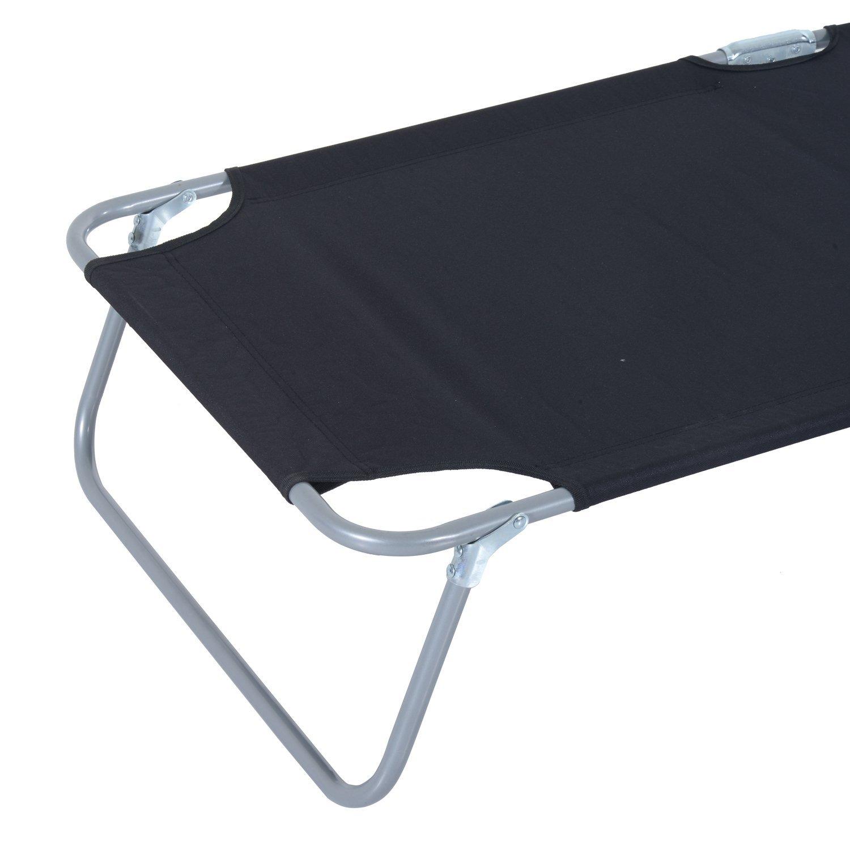 Tumbona-Inclinable-Aluminio-Plegable-Hamaca-Playa-Piscina-con-Parasol-NUEVO miniatura 29