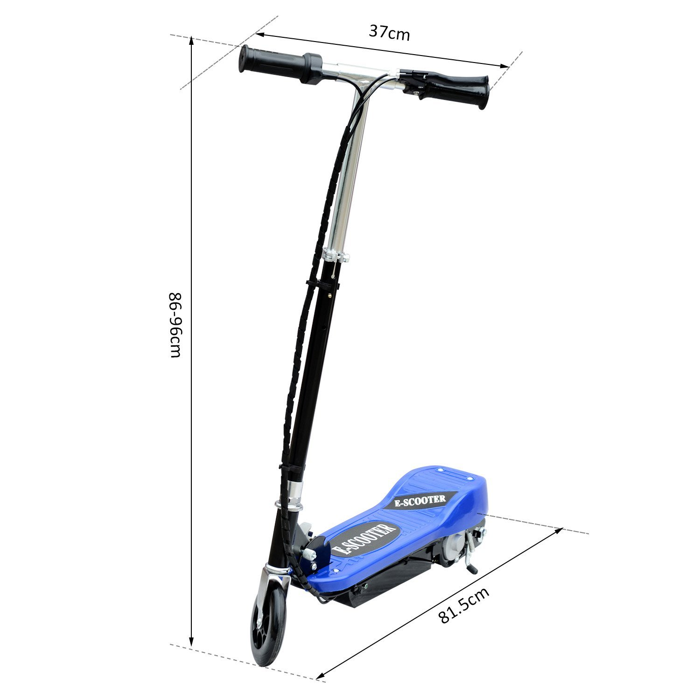 Patinete-Plegable-con-Manillar-Ajustable-tipo-Scooter-Electrico-de-Acero-Nuevo miniatura 8