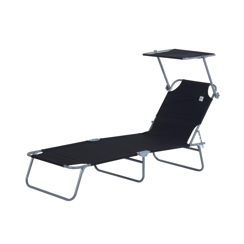 Tumbona-Inclinable-Aluminio-Plegable-Hamaca-Playa-Piscina-con-Parasol-NUEVO miniatura 24