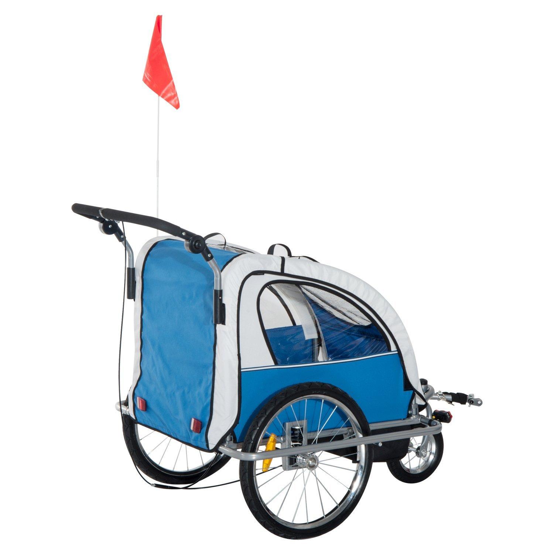 Remolque-Infantil-Bicicleta-2-PLAZAS-Kit-Footing-Rueda-360-Amortiguadores-Barra miniatura 4