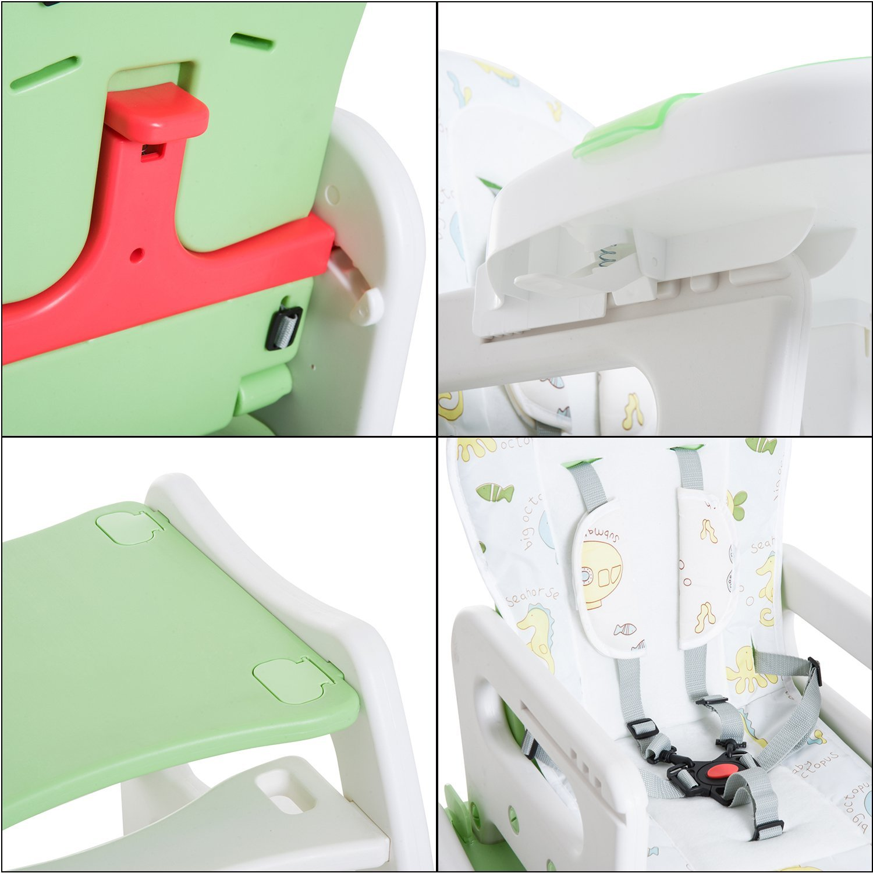 3-en-1-Sillita-Trona-Mecedora-Balancin-Bebe-Convertible-Multifuncional-Infantil miniatura 44