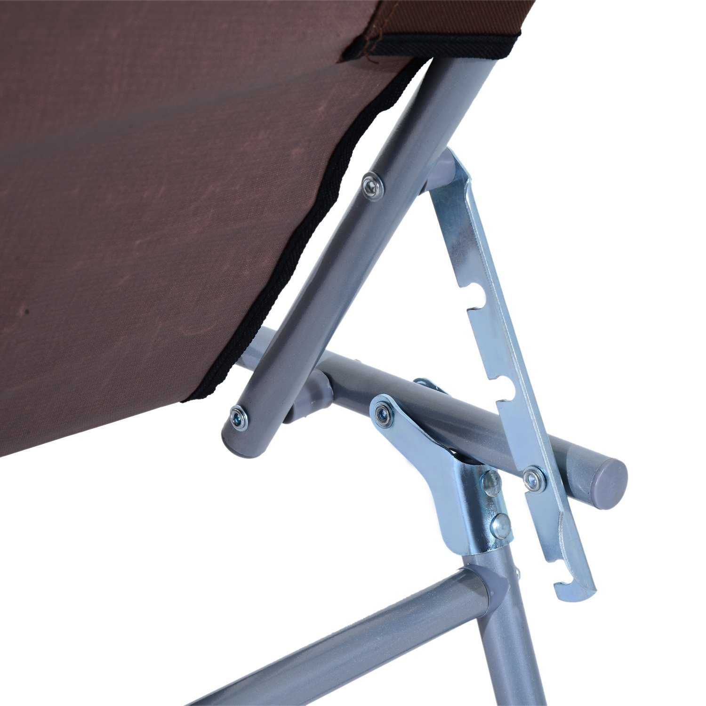 Tumbona-Inclinable-Aluminio-Plegable-Hamaca-Playa-Piscina-con-Parasol-NUEVO miniatura 20