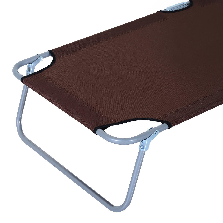 Tumbona-Inclinable-Aluminio-Plegable-Hamaca-Playa-Piscina-con-Parasol-NUEVO miniatura 21