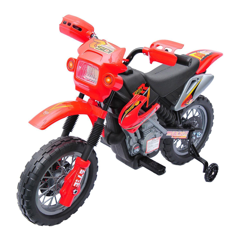 Moto-Electrica-Infantil-Bateria-Recargable-6V-Ninos-3-Anos-Cargador-Ruedas-Apoyo miniatura 15