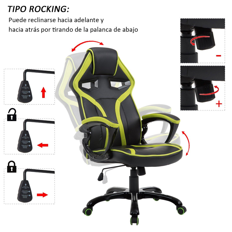 Silla-Gaming-de-Oficina-Ejecutiva-y-Deportiva-tipo-Sillon-Racing-de-Escritorio