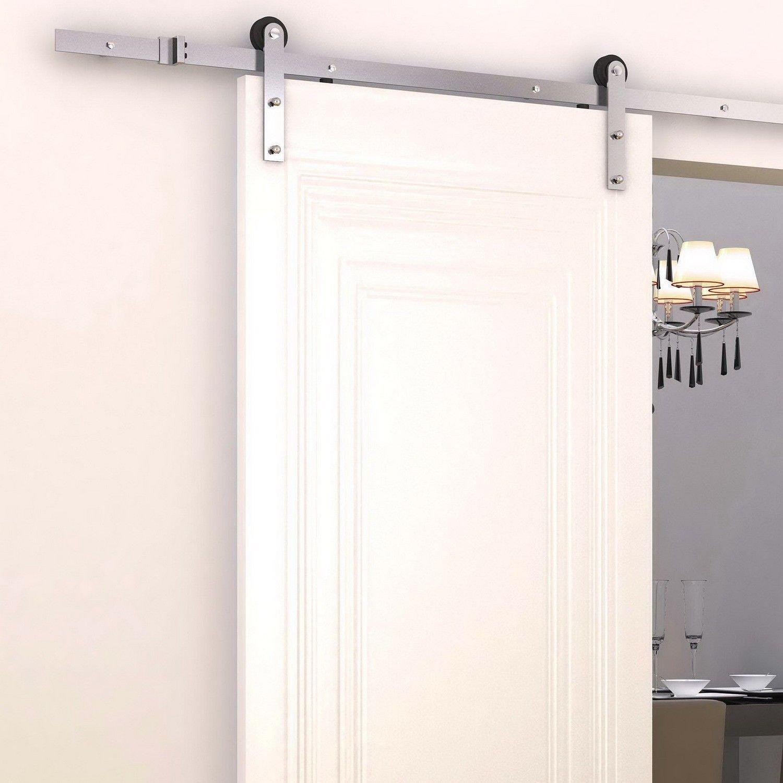 Kit instalacion riel acero inox guia para puerta corredera puertas corredizas ebay - Instalacion puerta corredera ...