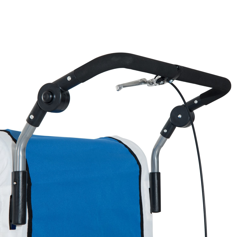 Remolque-Infantil-Bicicleta-2-PLAZAS-Kit-Footing-Rueda-360-Amortiguadores-Barra miniatura 7