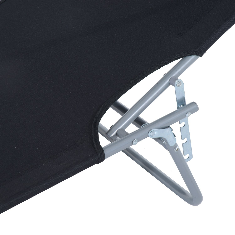 Tumbona-Inclinable-Aluminio-Plegable-Hamaca-Playa-Piscina-con-Parasol-NUEVO miniatura 30