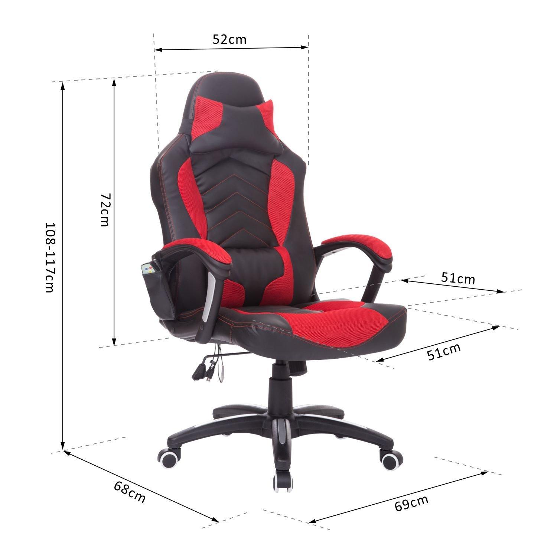Silla-de-Oficina-Gaming-Reclinable-con-Masaje-Calefaccion-tipo-Sillon-108-117cm