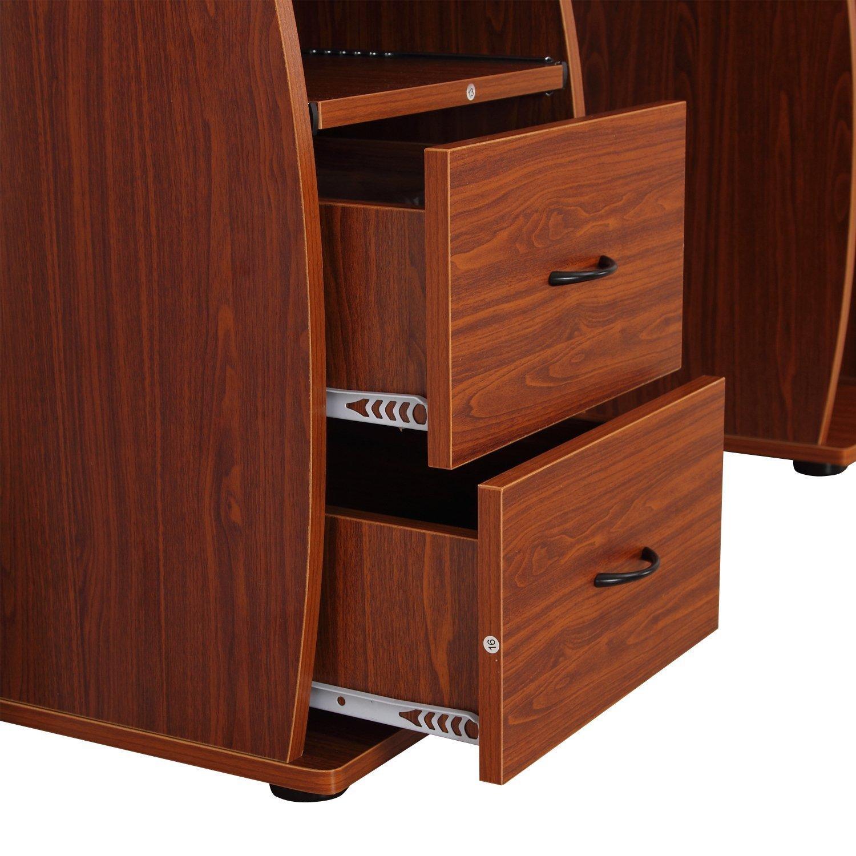 HOMCOM-Mesa-de-Ordenador-PC-Mobiliario-Oficina-Escritorio-Madera-120x55x85cm