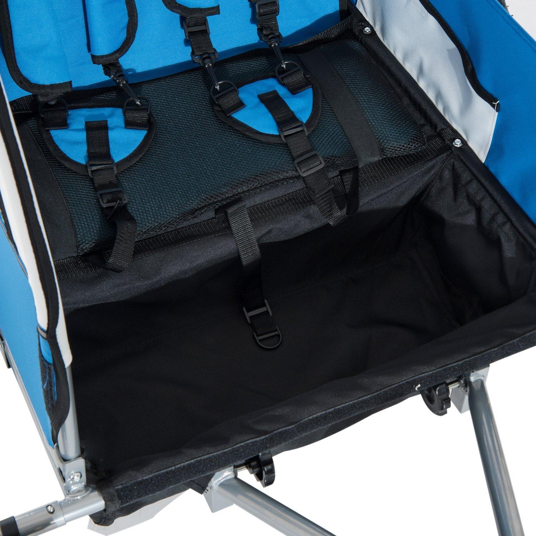 Remolque-Infantil-Bicicleta-2-PLAZAS-Kit-Footing-Rueda-360-Amortiguadores-Barra miniatura 5