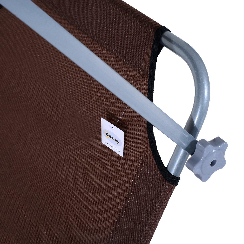 Tumbona-Inclinable-Aluminio-Plegable-Hamaca-Playa-Piscina-con-Parasol-NUEVO miniatura 18