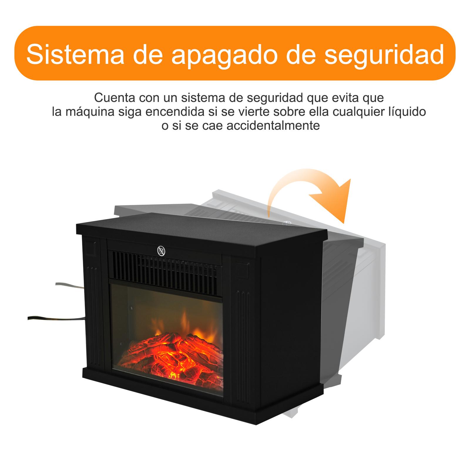 Chimenea-Electrica-de-Pared-Vertical-Estufas-Electricas-Llama-LED-6-Tipos-Nuevo miniatura 18