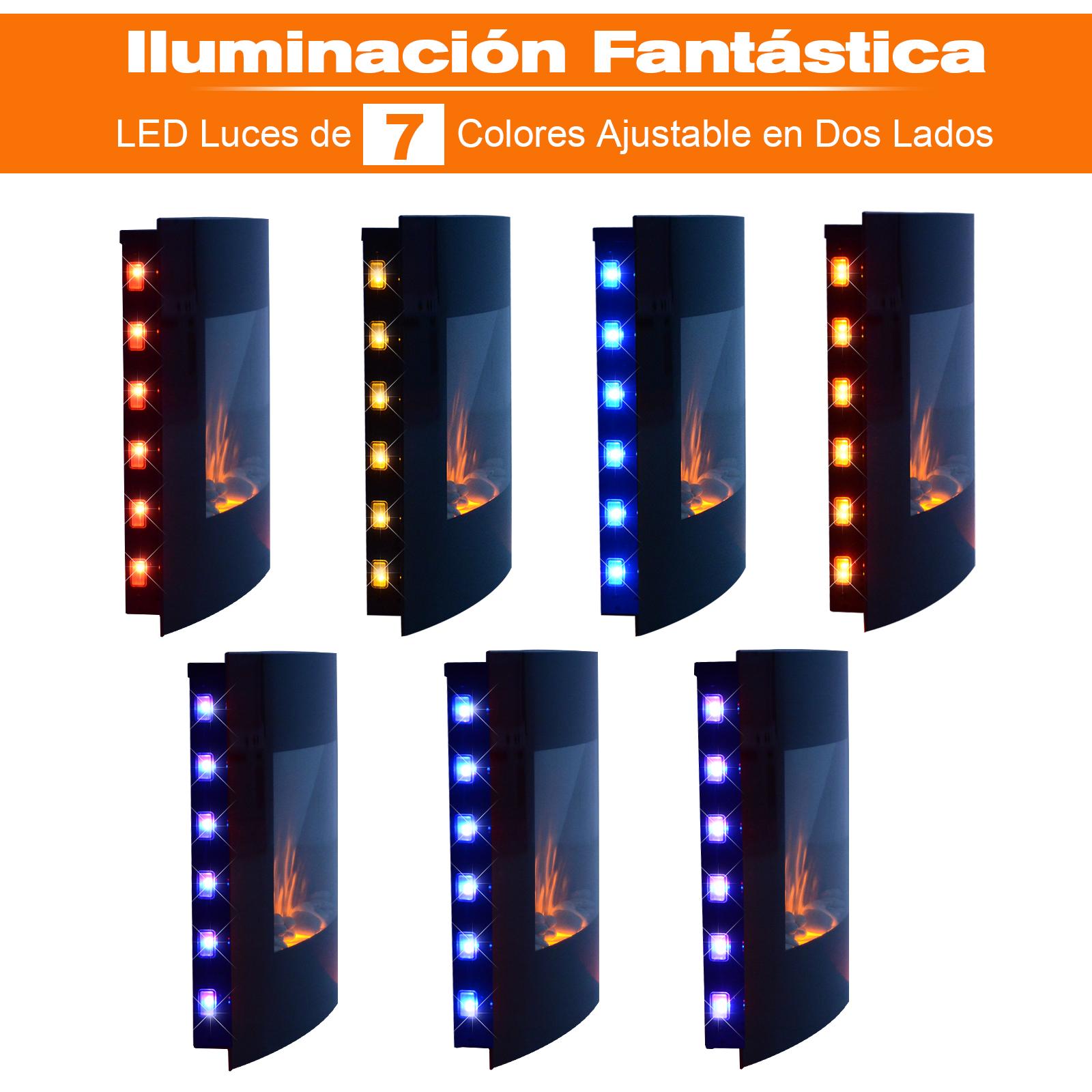 Chimenea-Electrica-de-Pared-Vertical-Estufas-Electricas-Llama-LED-6-Tipos-Nuevo miniatura 38