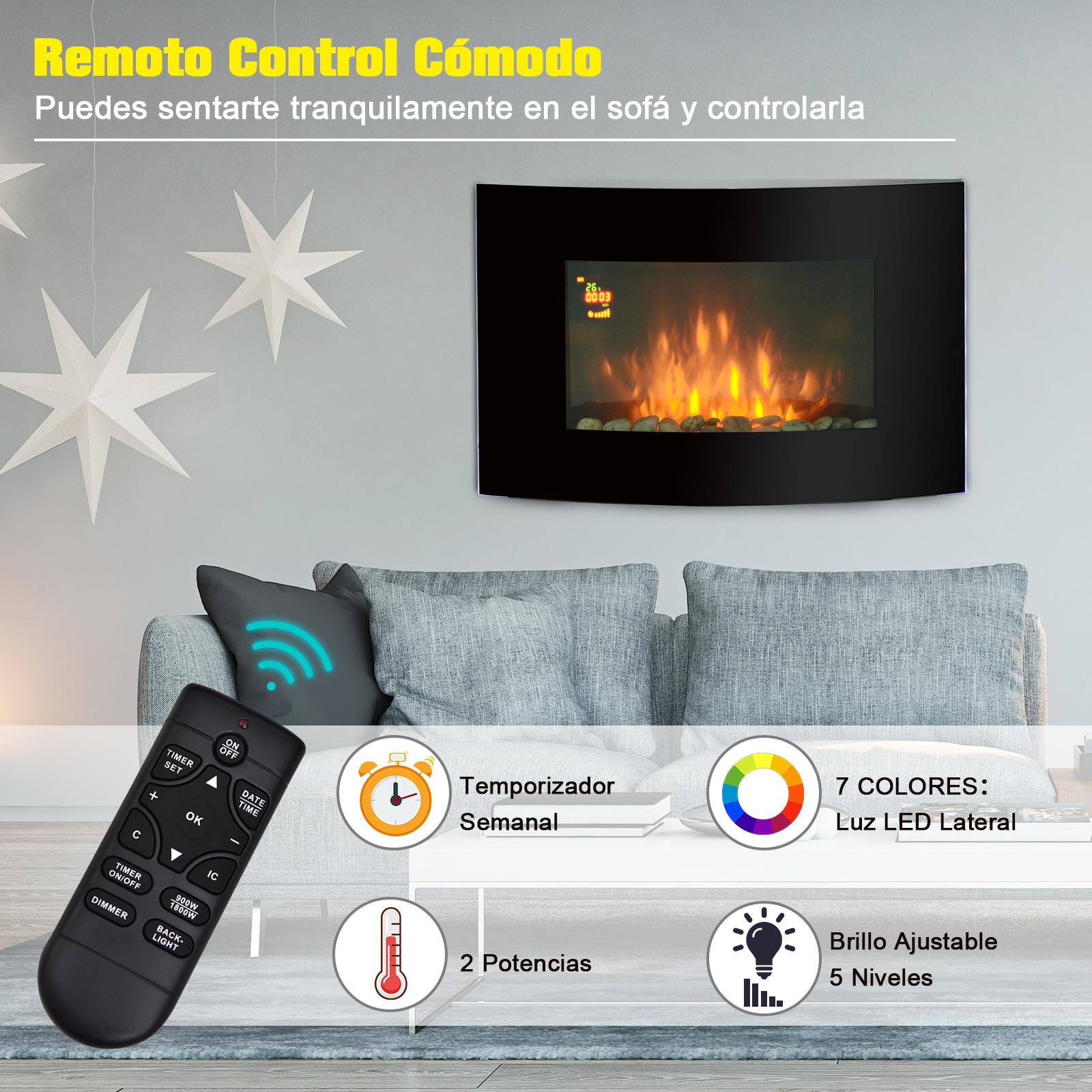 Chimenea-Electrica-de-Pared-Vertical-Estufas-Electricas-Llama-LED-6-Tipos-Nuevo miniatura 39