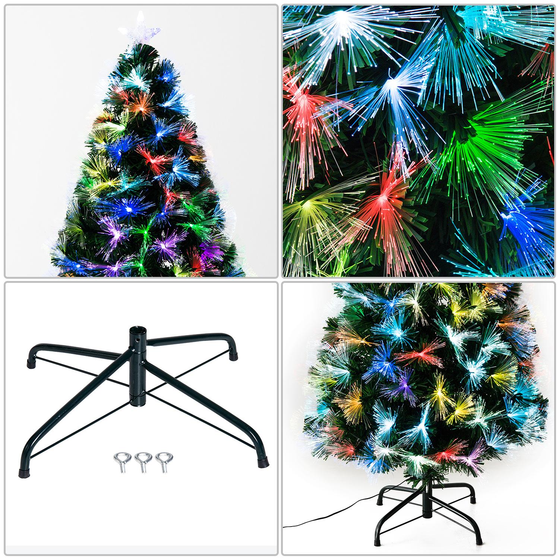 6acca14bdae9c HOMCOM Árbol de Navidad 120cm Fibra Optica 7 Color Árbol Artificial +  Estrella !! ENVIO INMEDIATO CON NUMERO DE SEGUIMIENTO !! EXCLUIDOS ENVIOS A  CANARIAS.
