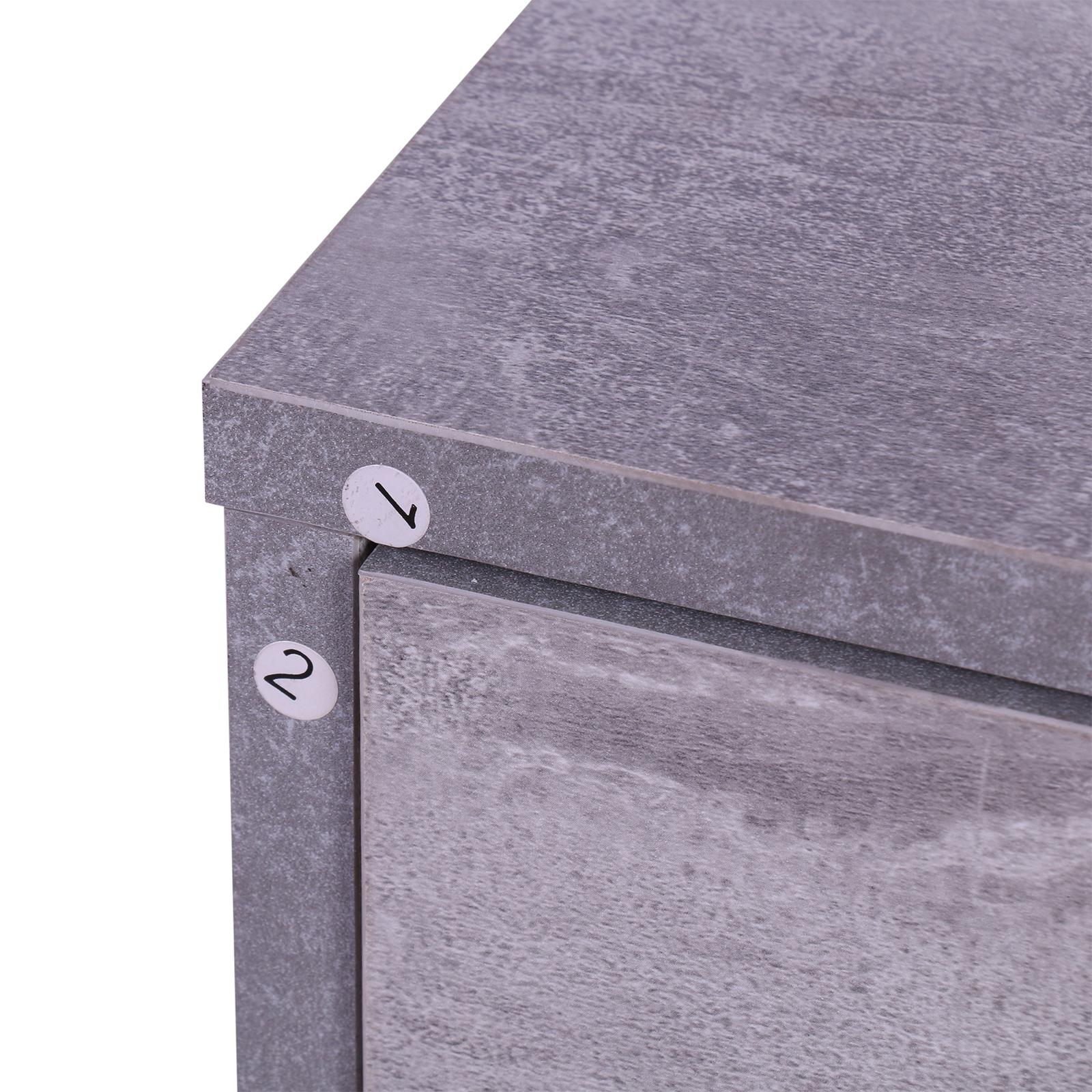 831 146gy11(3) - Conjunto Muebles de Entrada Recibidor Pasillo 3 Piezas Perchero Espejo Zapatero