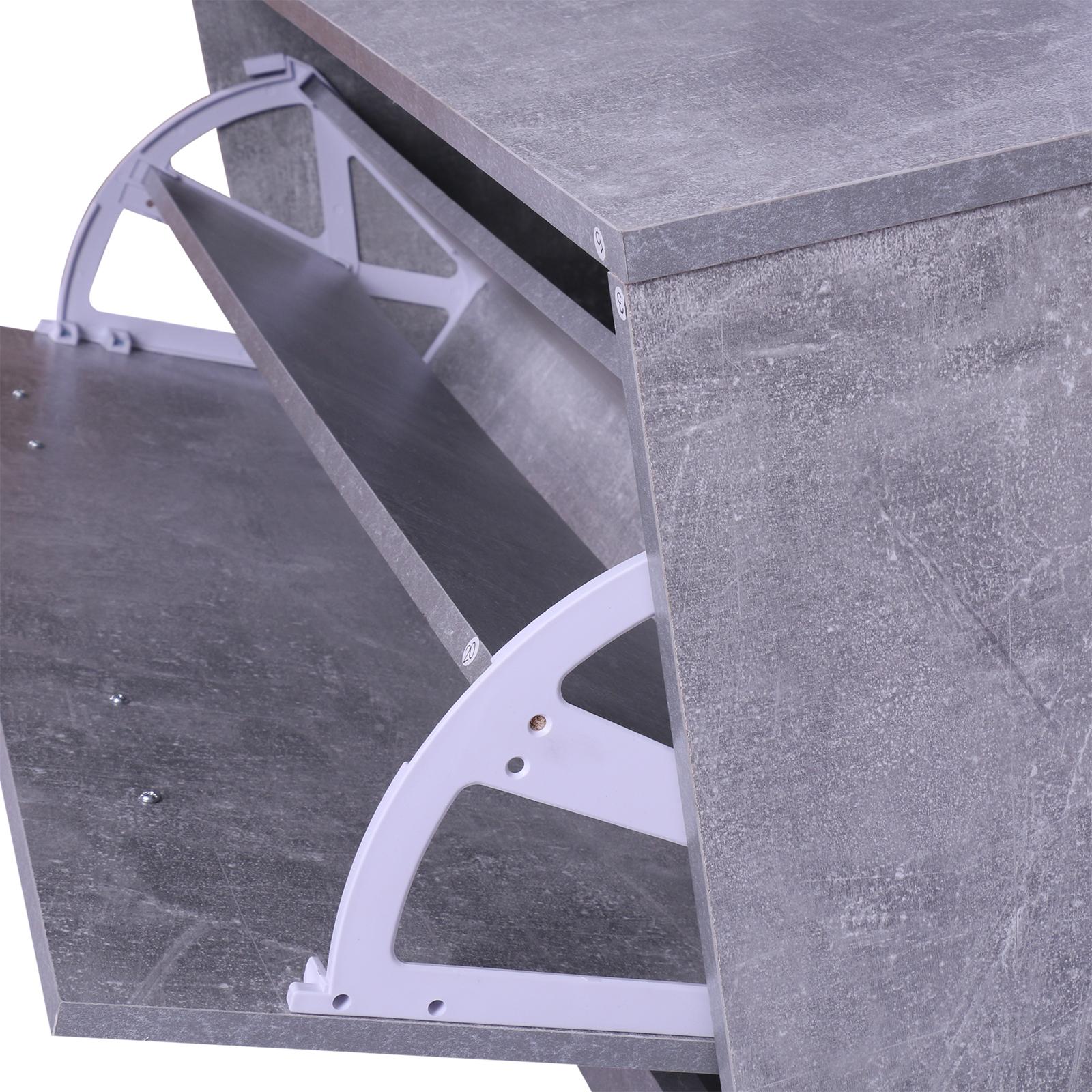 831 146gy11(4) - Conjunto Muebles de Entrada Recibidor Pasillo 3 Piezas Perchero Espejo Zapatero