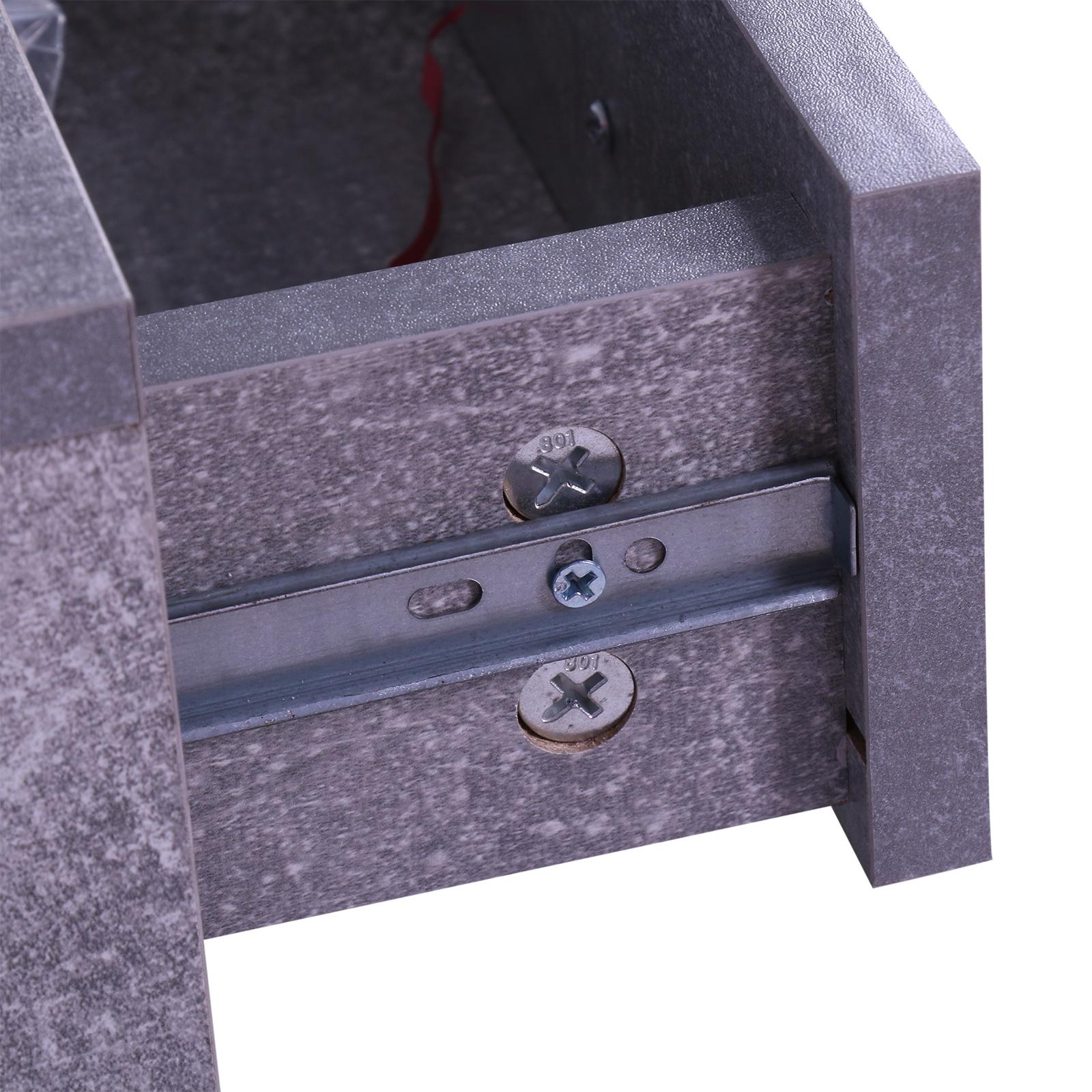 831 146gy11(5) - Conjunto Muebles de Entrada Recibidor Pasillo 3 Piezas Perchero Espejo Zapatero