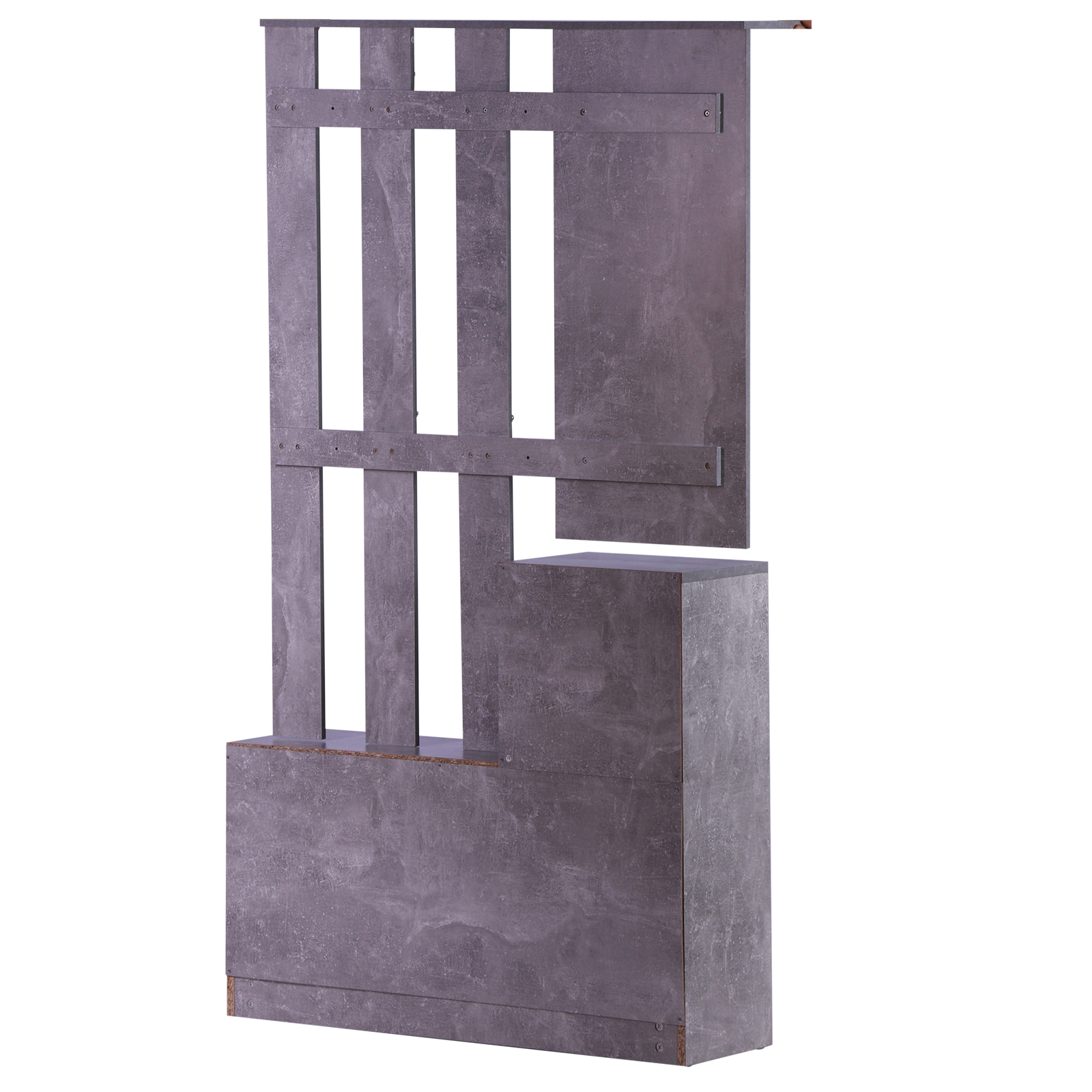 831 146gy11(7) - Conjunto Muebles de Entrada Recibidor Pasillo 3 Piezas Perchero Espejo Zapatero