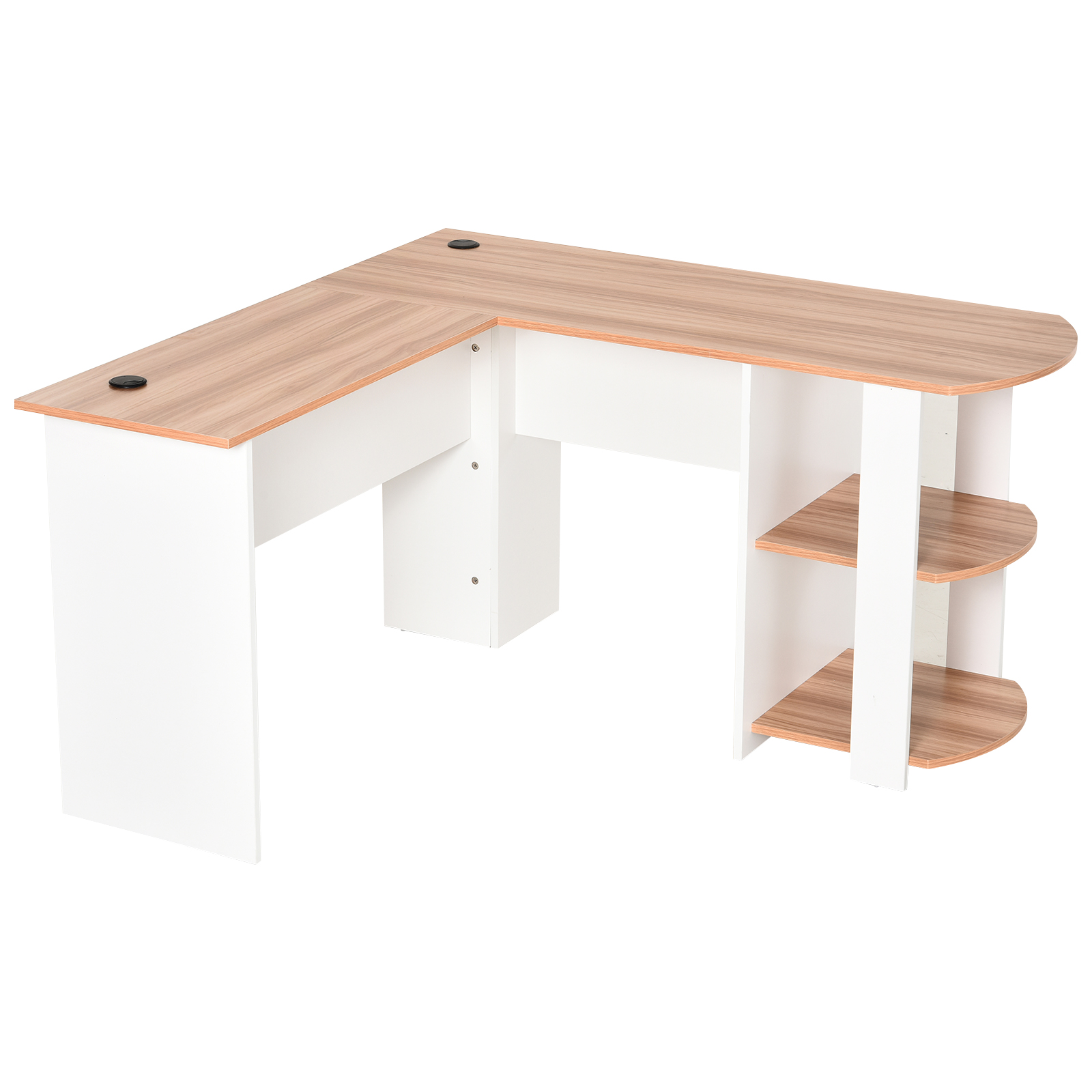 Mesa-de-Ordenador-PC-Escritorio-para-Oficina-Hogar-Esquinera-Forma-L-Madera miniatura 15
