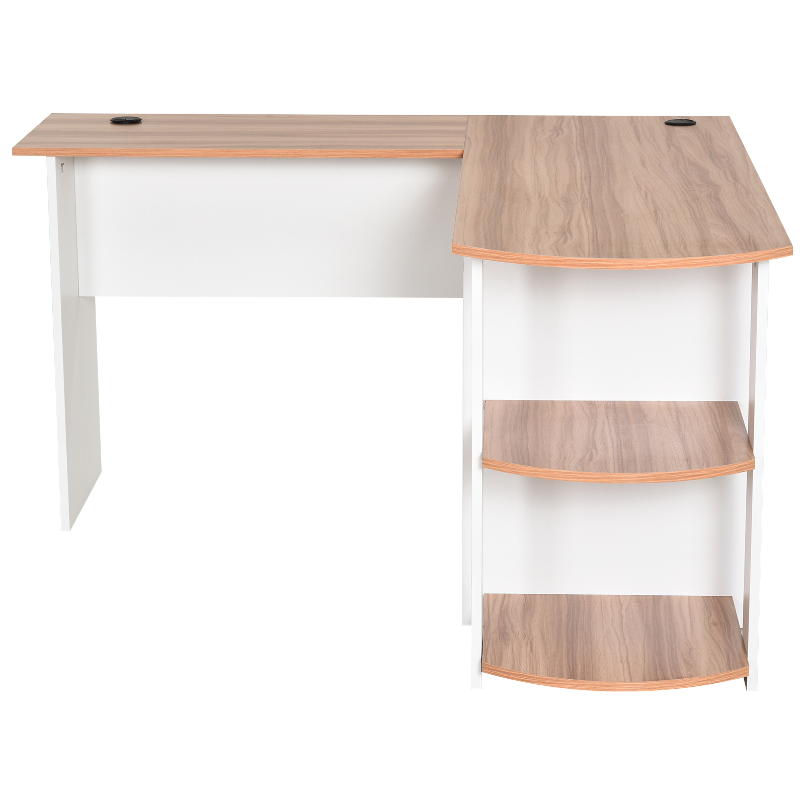 Mesa-de-Ordenador-PC-Escritorio-para-Oficina-Hogar-Esquinera-Forma-L-Madera miniatura 16