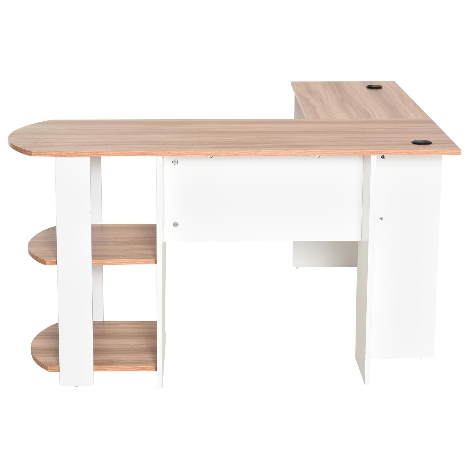 Mesa-de-Ordenador-PC-Escritorio-para-Oficina-Hogar-Esquinera-Forma-L-Madera miniatura 23