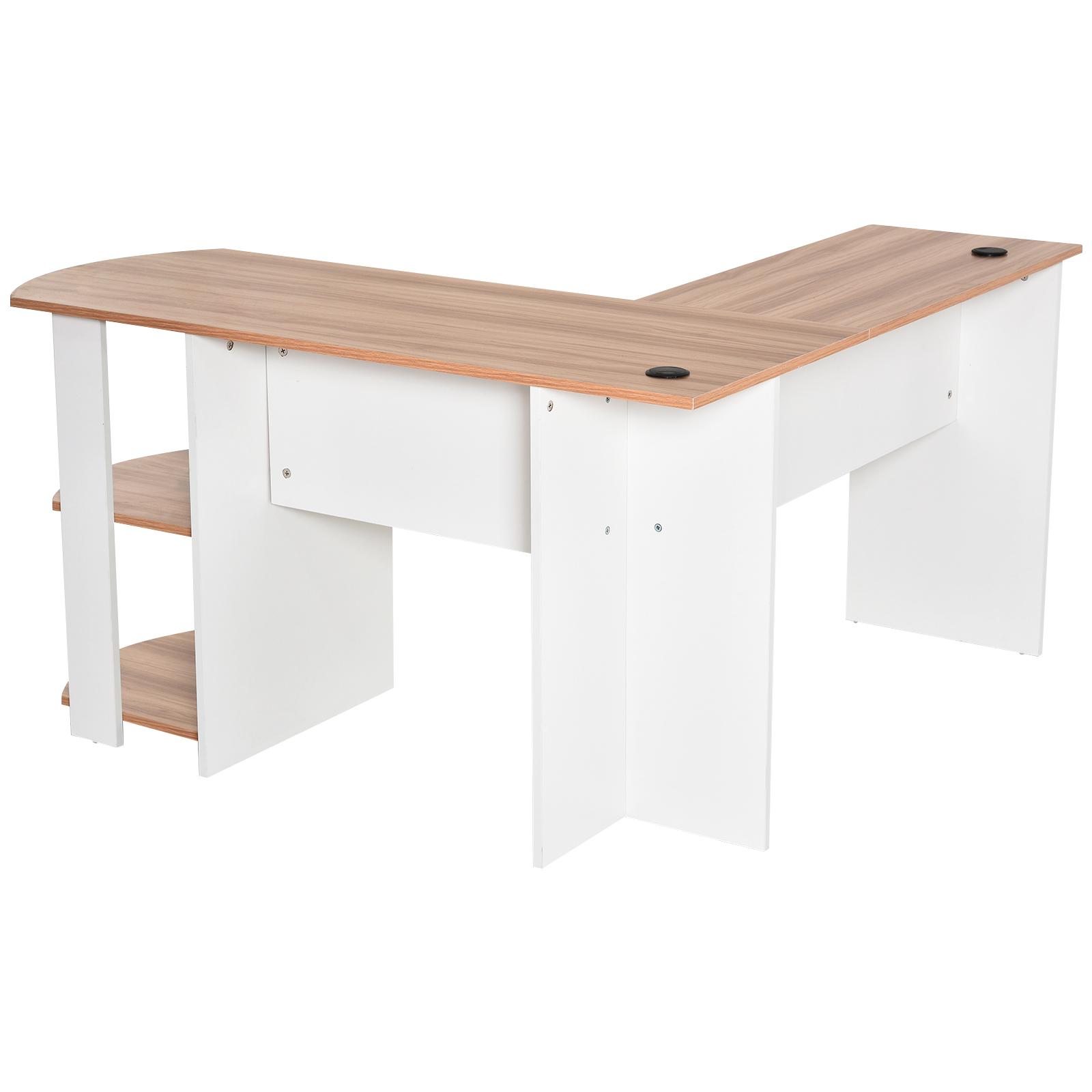 Mesa-de-Ordenador-PC-Escritorio-para-Oficina-Hogar-Esquinera-Forma-L-Madera miniatura 24
