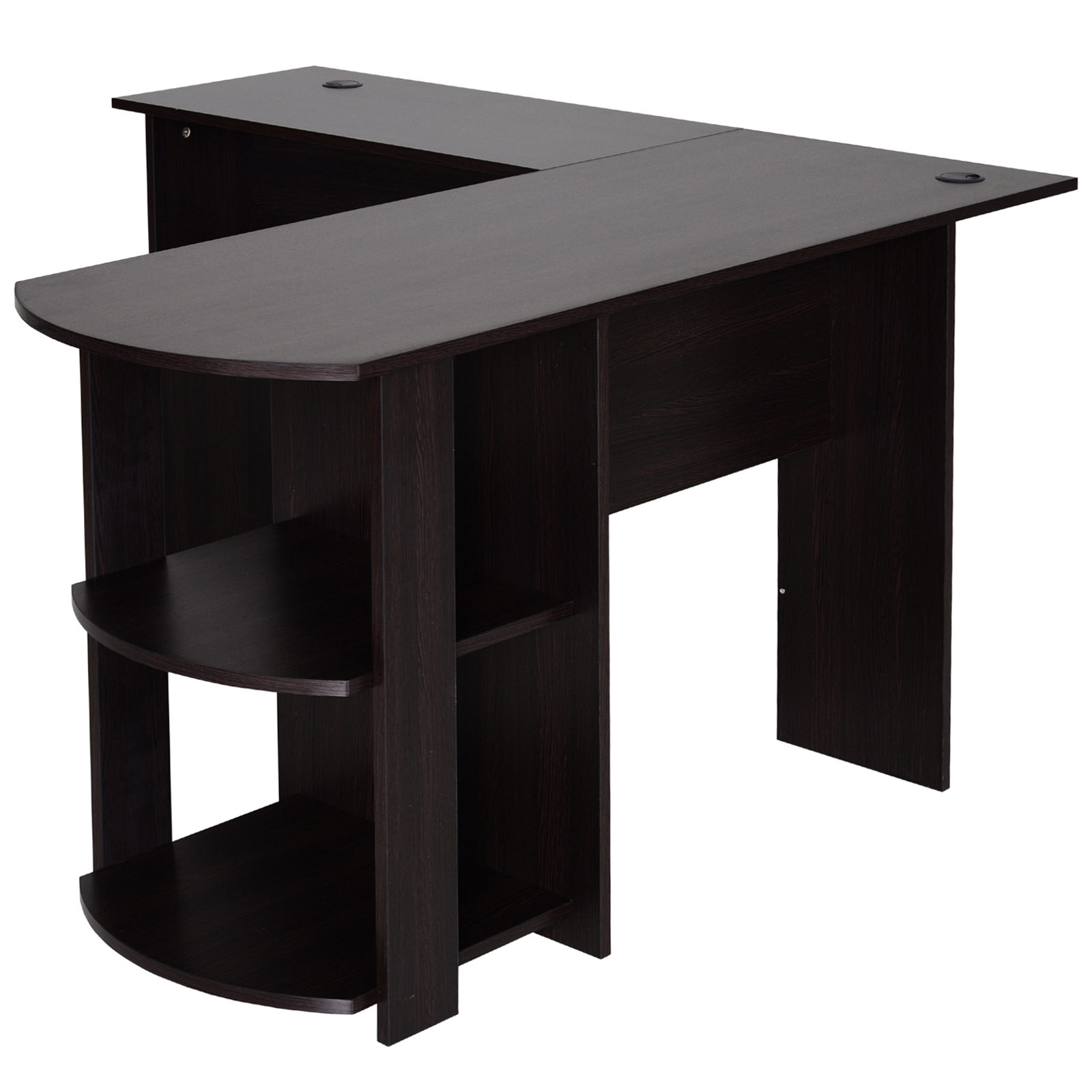 Mesa-de-Ordenador-PC-Escritorio-para-Oficina-Hogar-Esquinera-Forma-L-Madera miniatura 7