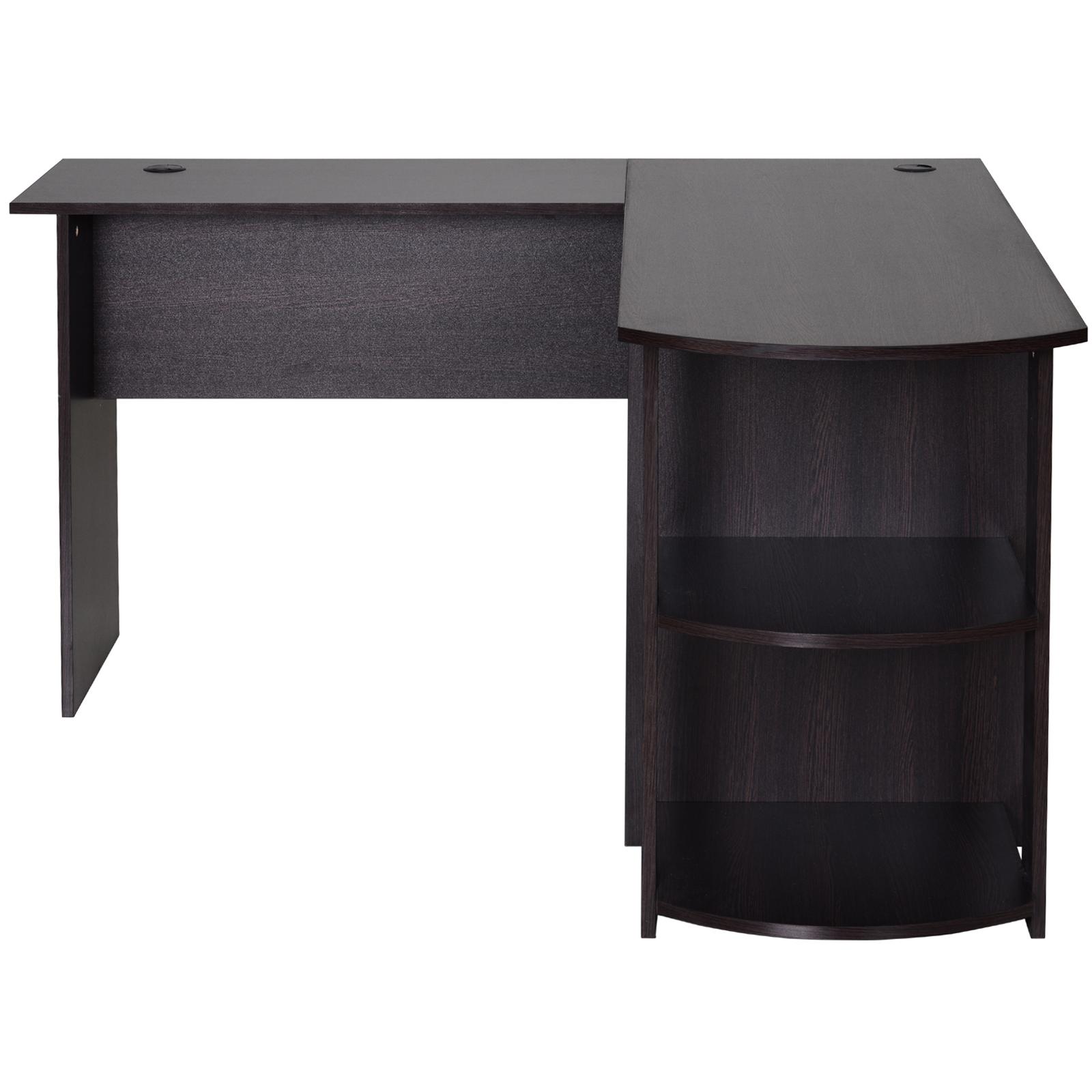 Mesa-de-Ordenador-PC-Escritorio-para-Oficina-Hogar-Esquinera-Forma-L-Madera miniatura 4