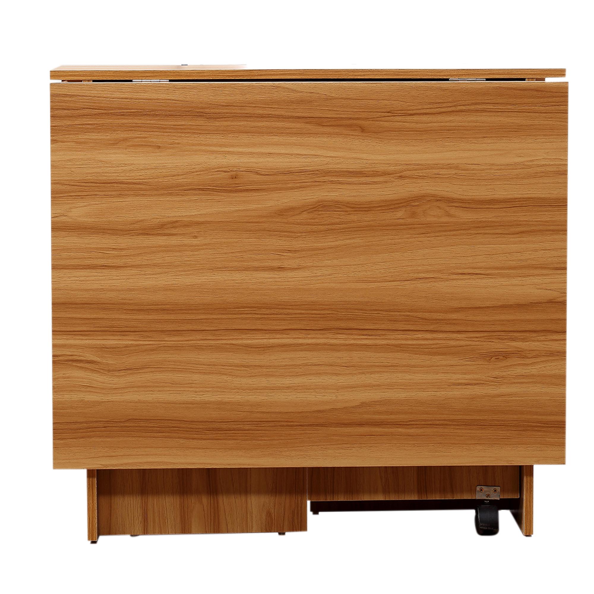 Mesa Plegable con Ruedas Estante Multifuncional para Comedor