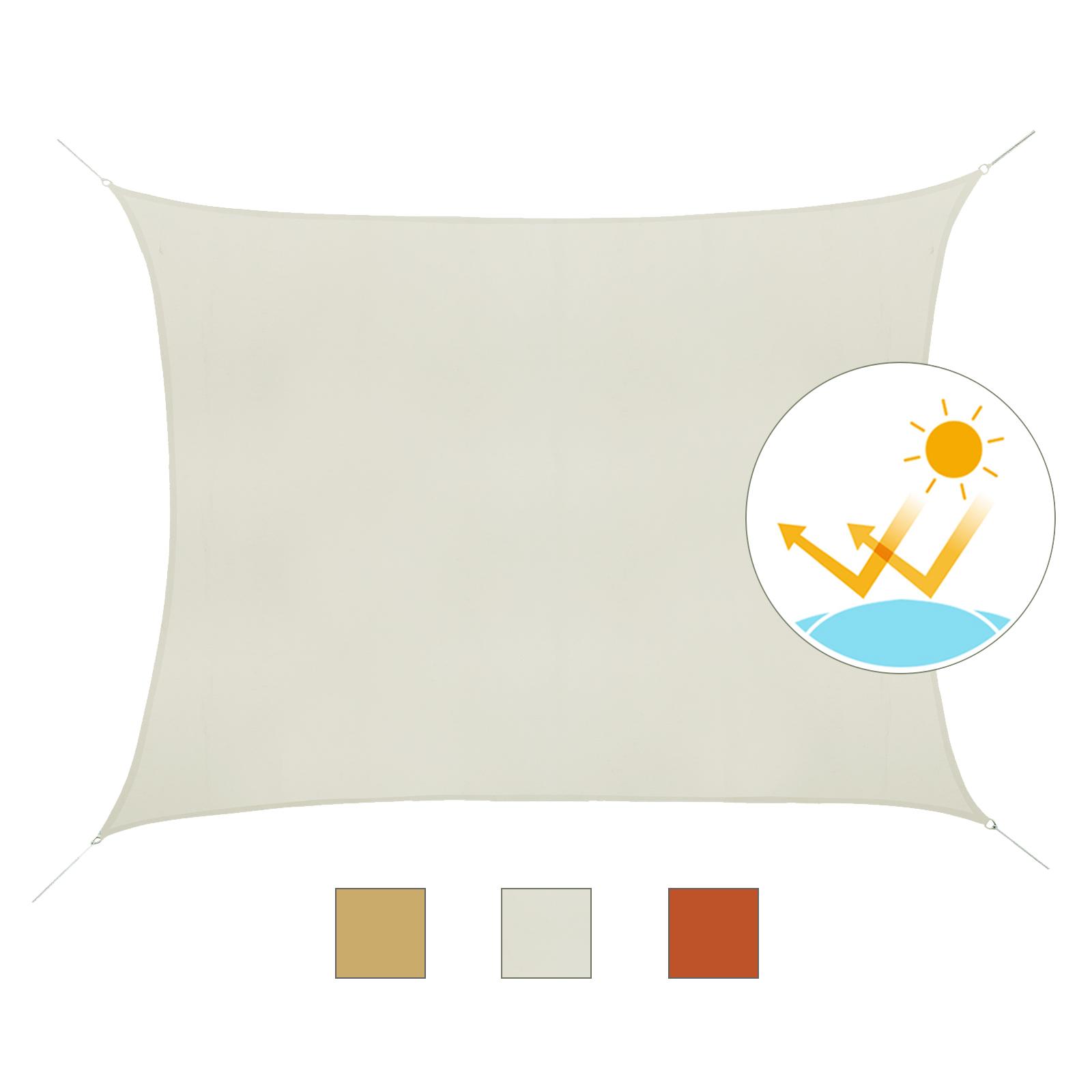 Toldo-de-Vela-Rectangular-para-Jardin-y-Exterior-Repelente-al-Agua-Proteccion-UV miniatura 13