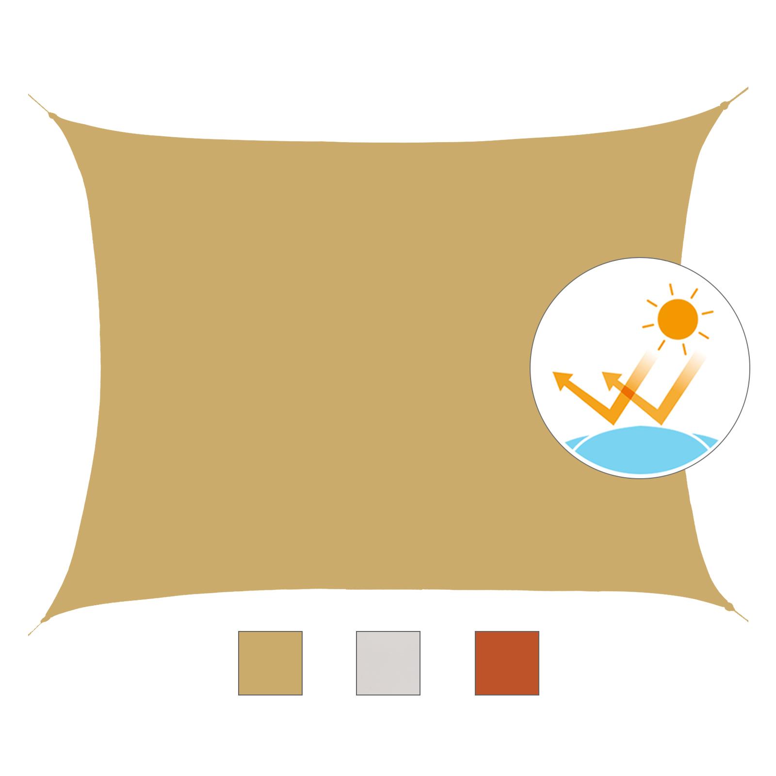 Toldo-de-Vela-Rectangular-para-Jardin-y-Exterior-Repelente-al-Agua-Proteccion-UV miniatura 3