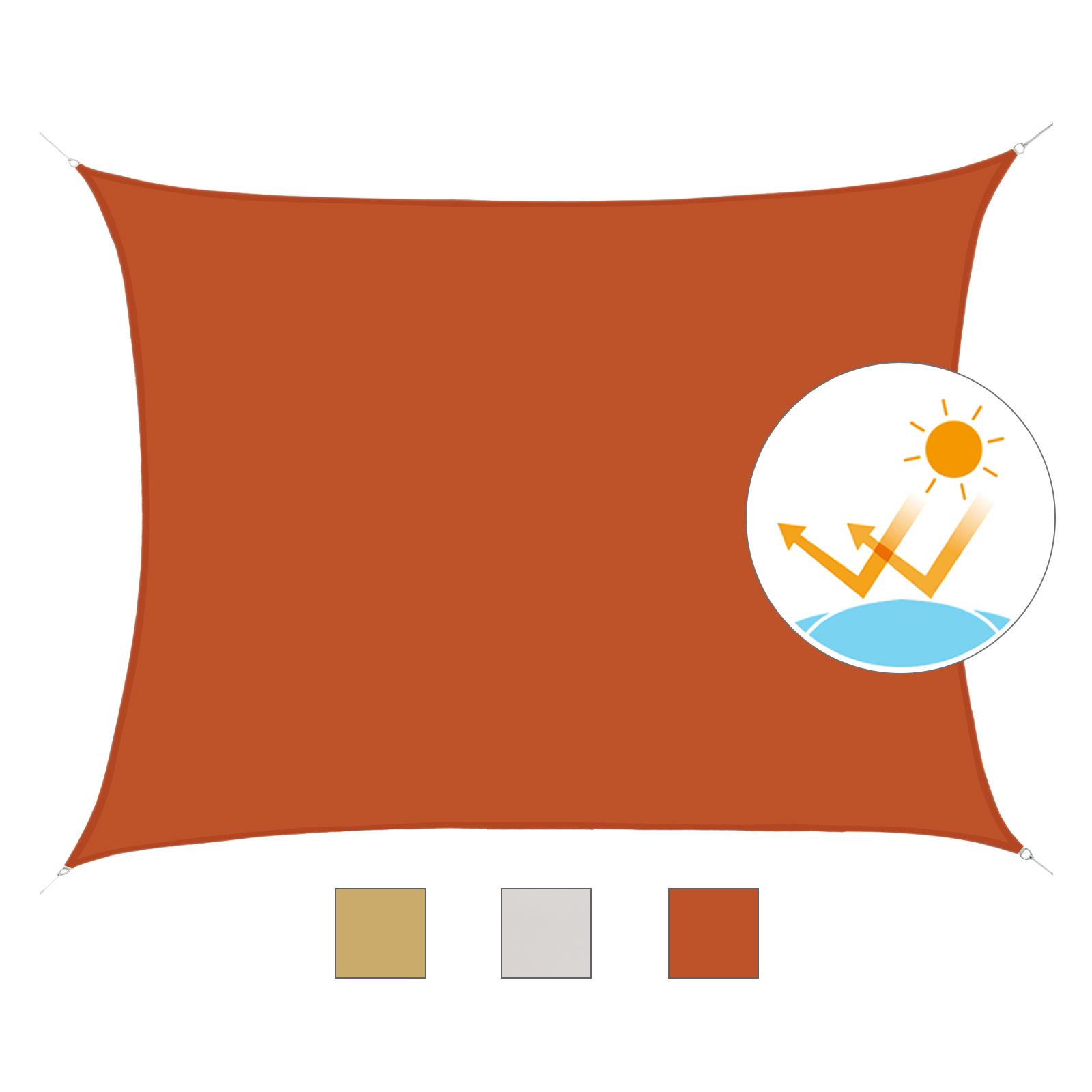 Toldo-de-Vela-Rectangular-para-Jardin-y-Exterior-Repelente-al-Agua-Proteccion-UV miniatura 21