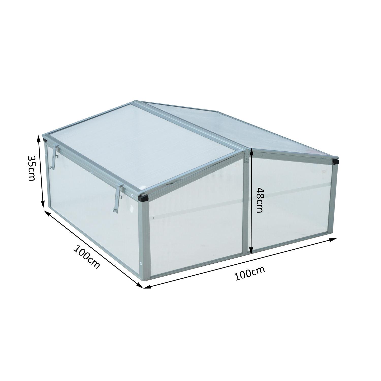 Invernadero-de-Jardin-Aluminio-Policarbonato-Transparente-Vivero-Casero-Plantas miniatura 8