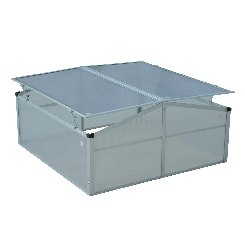 Invernadero-de-Jardin-Aluminio-Policarbonato-Transparente-Vivero-Casero-Plantas miniatura 5