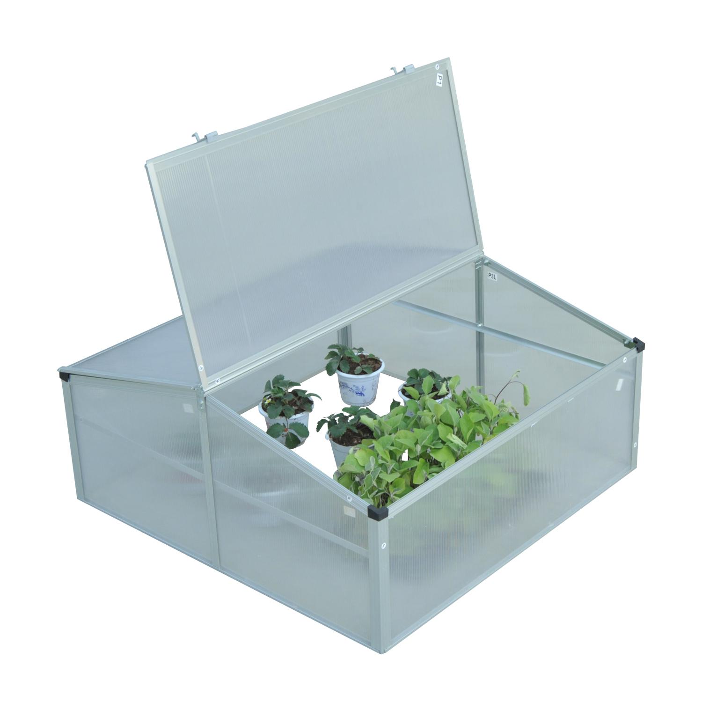 Invernadero-de-Jardin-Aluminio-Policarbonato-Transparente-Vivero-Casero-Plantas miniatura 3