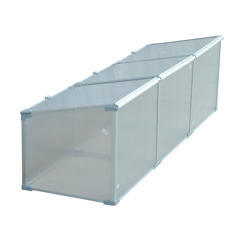 Invernadero-de-Jardin-Aluminio-Policarbonato-Transparente-Vivero-Casero-Plantas miniatura 21
