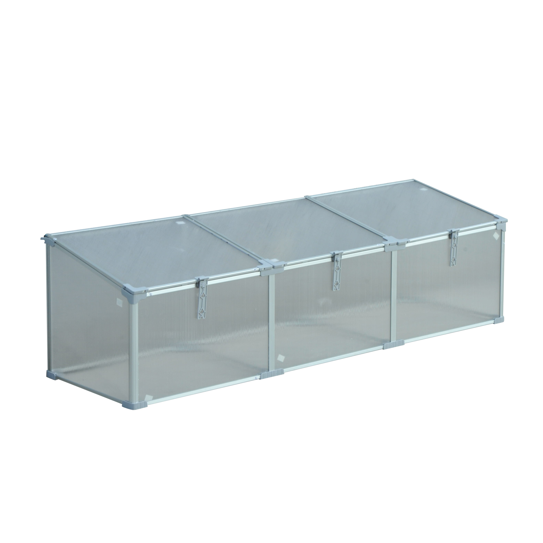 Invernadero-de-Jardin-Aluminio-Policarbonato-Transparente-Vivero-Casero-Plantas miniatura 14