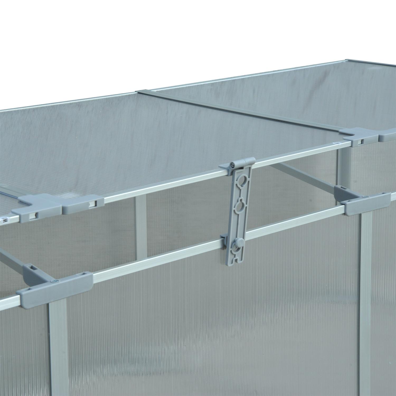 Invernadero-de-Jardin-Aluminio-Policarbonato-Transparente-Vivero-Casero-Plantas miniatura 15