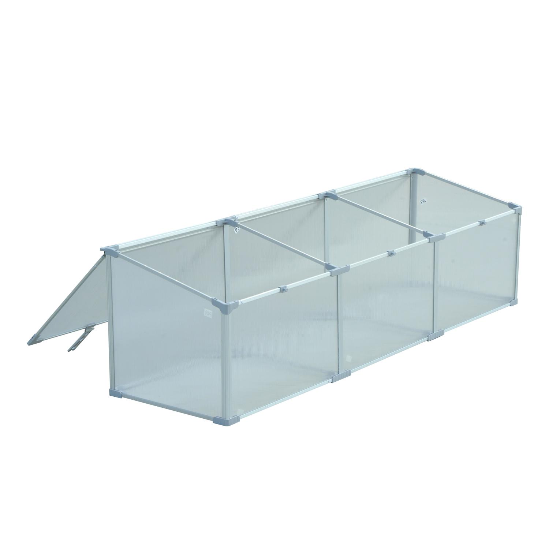 Invernadero-de-Jardin-Aluminio-Policarbonato-Transparente-Vivero-Casero-Plantas miniatura 13