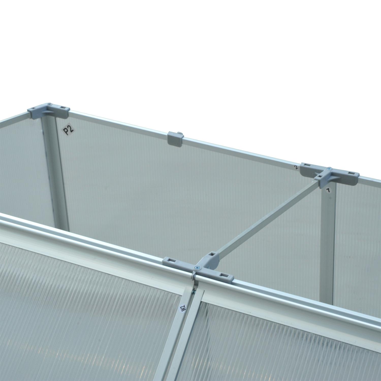 Invernadero-de-Jardin-Aluminio-Policarbonato-Transparente-Vivero-Casero-Plantas miniatura 19