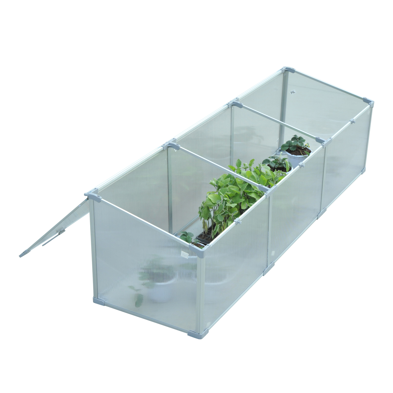 Invernadero-de-Jardin-Aluminio-Policarbonato-Transparente-Vivero-Casero-Plantas miniatura 12