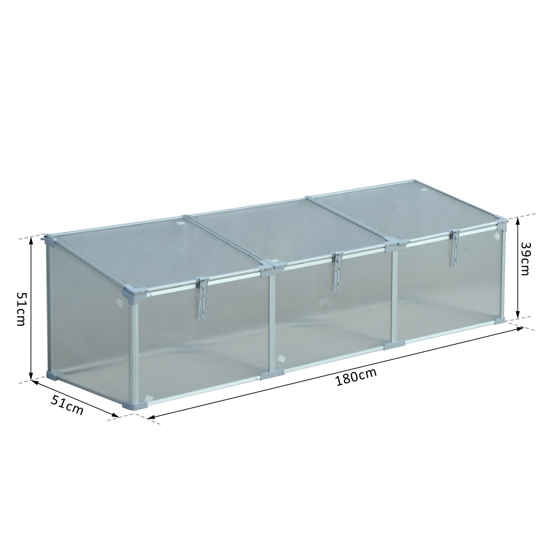 Invernadero-de-Jardin-Aluminio-Policarbonato-Transparente-Vivero-Casero-Plantas miniatura 17