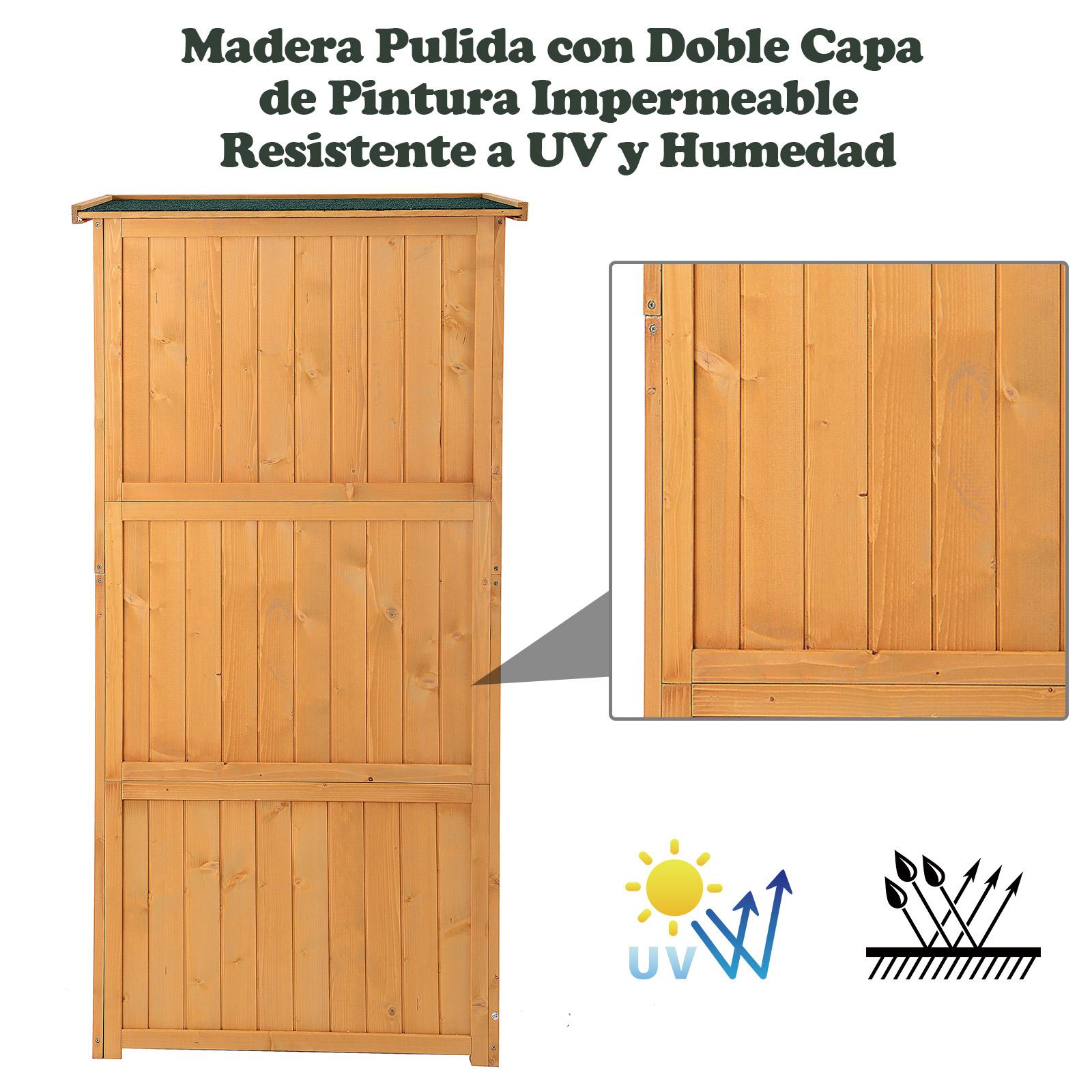 Cobertizo de madera caseta exterior armario para herramientas de jardiner a ebay - Armario de madera para exterior ...