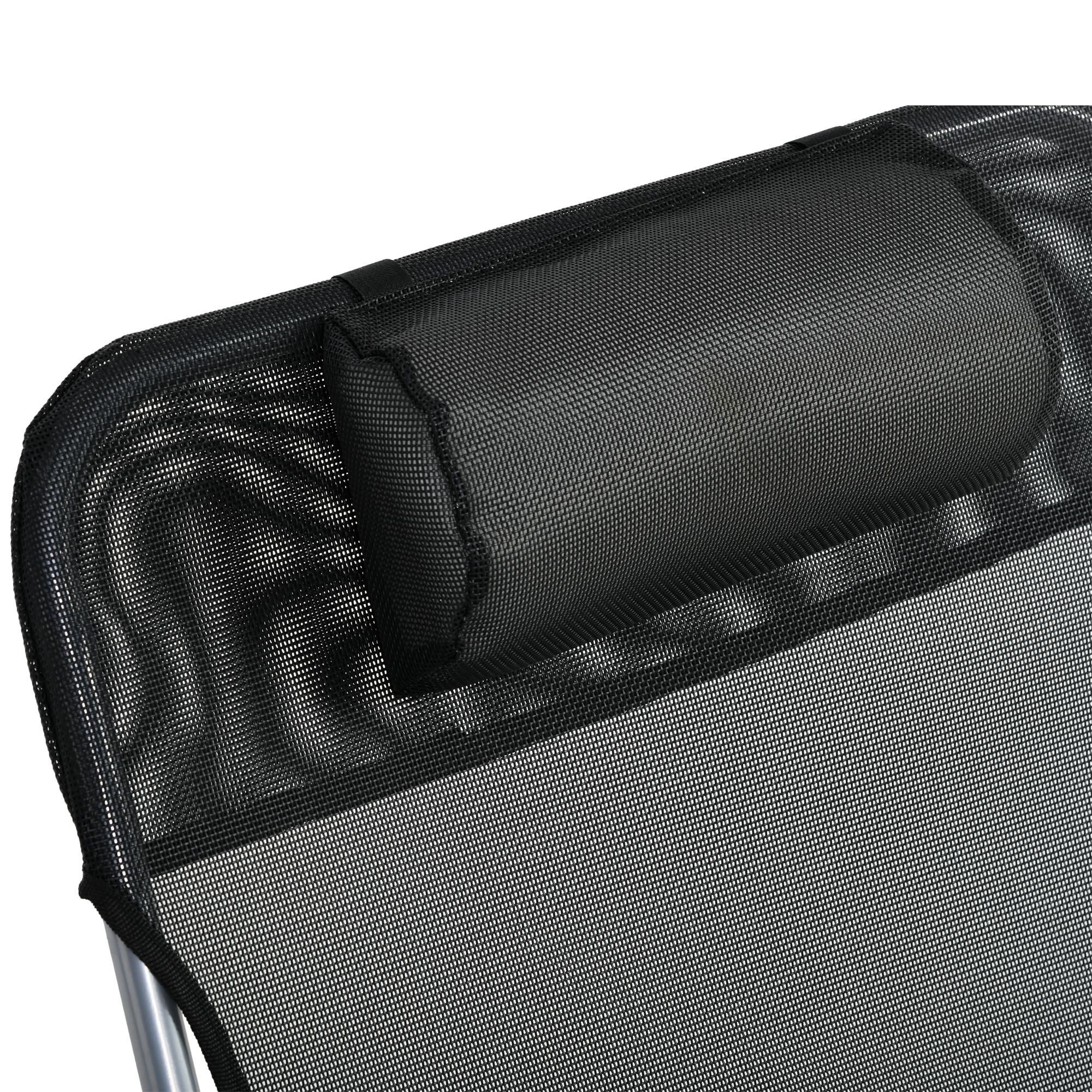 miniatura 24 - Tumbona Plegable y Reclinable con Reposacabezas y Respaldo Ajustable COLOR